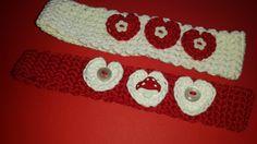 Valentine's crochet hair bands