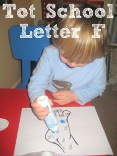 Tot School Printables Letter F is for Foot from Wildflower Ramblings #totschool