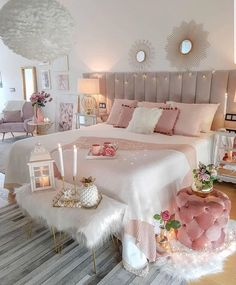 33 Stylish Bedroom Decorating Ideas To Inspire You Teenage Room Decor, Bedroom Decor For Teen Girls, Cute Bedroom Ideas, Girl Bedroom Designs, Room Ideas Bedroom, Home Decor Bedroom, Bedroom Interiors, Bed Room, Bedroom Ideas For Women