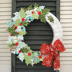 Sew What : Blitzen Fabric Wreath | BasicGrey Blog