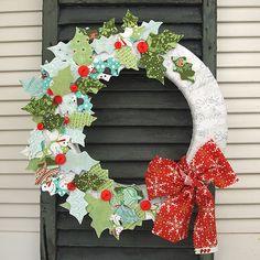 Sew What : Blitzen Fabric Wreath | BasicGrey Blog