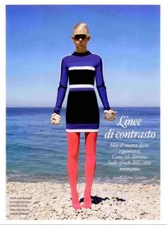 #VersaceEditorials - Bold color rigor. Io Donna Italy - September '15.  Stylist - Mauro Biasotto Photo - Andrea Gandini