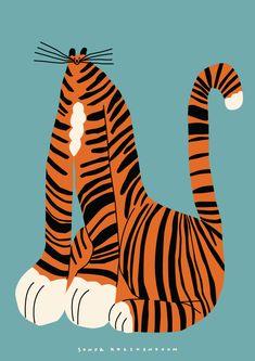 Sonya Korshenboym on Behance Tiger Illustration, Graphic Design Illustration, Digital Illustration, Buda Wallpaper, Bad Drawings, Animal Graphic, Cat Art, Art Inspo, Illustrators