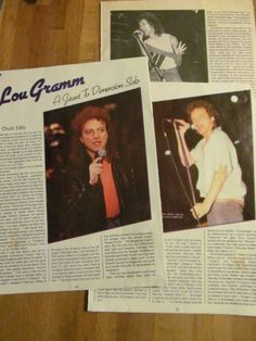 Lou Gramm, Foreigner, Three Page Vintage Clipping