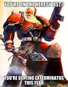 Don't be on Santa's 'Heresy List' - 9GAG