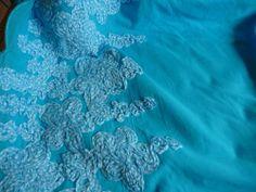 Baumwolle,Meterware,Stoffe,Aqua,Kariert,Weiß,Bändchen,Bordüre,Wellenabschluß