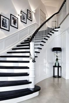Modern Staircase Design Ideas - Modern stairways can be found in lots of design and styles that can be real eye-catcher in the different area. We've compiled ideal 10 modern versions of stairways that can provide. Winding Staircase, Modern Staircase, Staircase Design, Staircase Ideas, Craftsman Staircase, Black Staircase, Staircase Decoration, Staircase Runner, Hallway Ideas