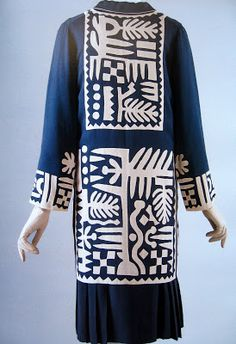 Appliqued silk jacket by Mariska Karasz, 1927. From Lesley Turner: Art Deco Art on the Figure