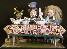 The Tea Party by Lucia Friedericy, Friedericy Dolls at The Toy Shoppe