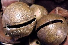 Antique sleigh bells. Sleigh bells are the sound of winter~
