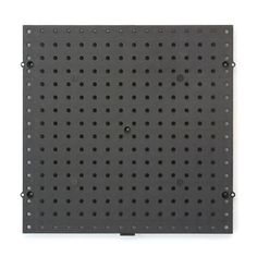 $5.69 Everbilt 16 in. square -  Black Plastic Pegboard-17961 - The Home Depot $5.69 This can work for the sewing & craft room or office closet as well.  I'm pretty sure you could spray paint this any color with the Krylon for plastics paint.  Hang your organizing hooks, trays, and baskets from it.