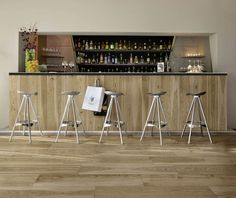Oak effect Porcelain tiles – combining the elegance of wood and the simplicity of stoneware with rich surface patterning and shade variations. Supplied by Exto Commercial Interior Design, Commercial Interiors, Spa Design, Restaurant Design, Hygge, Design Projects, Stoneware, Architecture Design, Flooring
