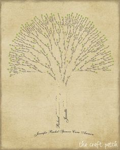 Family Tree Art...a little tutorial on how to make your own . Wouldn't this be a…