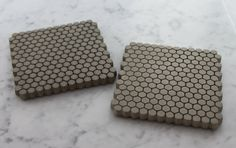 Concrete. Hexagon. Coasters. Culinarium on Etsy