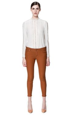 COATED TROUSERS - Trousers - Woman - New collection | ZARA United States