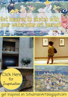 watercolor sketchbook inspiration via @metmuseum #MauricePrendergast get inspired to art journal → http://schulmanart.blogspot.com/2015/07/watercolor-sketchbook-watercolors-of.html