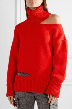 Monse   Cutout wool turtleneck sweater   NET-A-PORTER.COM