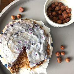 Cheesecake vegan aux myrtilles sans cuisson