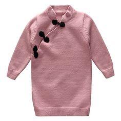 Coodebear Little Baby Girls' Cheongsam Cashmere Long Swea...