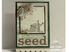 Countryside ; French foliage ; Adorning accents edgelets + TIEF ; Masculine card
