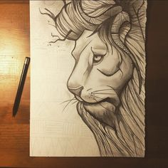 #lion #illustration #tribal #nature #animal #art #pencil #drawing #leone #disegno #arte #chiaroscuro #madrenatura #matita https://www.facebook.com/photo.php?fbid=10205149549450641&set=a.10202246202748788.1073741827.1601934301&type=1&theater