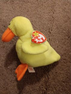 d327a5073e3 Items similar to Quackers the Duck - Ty Beanie Babies - 1994 on Etsy