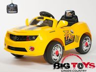 Junior Toys® Camaro Style Ride On Car With Remote & MP3 In yellow