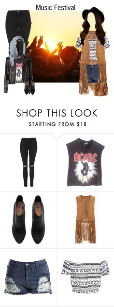 """""""Music Festival"""" by kateremington-1 ❤ liked on Polyvore featuring Topshop, Vintage, H&M, Monsoon, Boohoo and Chinese Laundry"""