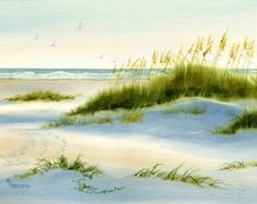Dusk in the Sand Dunes and Sea oats
