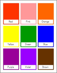 Color Flash Cards - Customizable and Printable