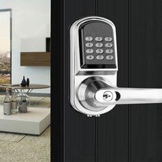 Door Lock Electronic Smart Code Entry Security Knob Password MFCard us