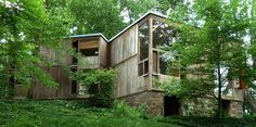Here are some photos of the Norman and Doris Fisher House in Hatboro, Pennsylvania by Louis I. Kahn (1967). Photographs are by Bill Brookov...