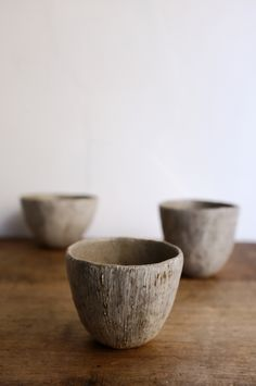 Image of 3 cups by Japanese cermic artist Miyachi