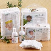 Founded by an environmentally aware but busy mom of two, Naty's first product was a diaper that's both organic and conveniently compostable. Using high-quality materials and ingredients, this Scandinavian-inspired brand creates award-winning natural care and hygiene products for women and babies with a goal to lessen negative impacts on the environment.
