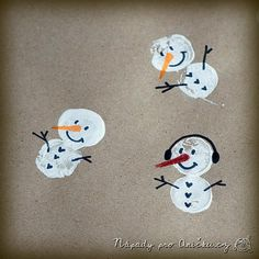 Balicí papír se sněhuláky Kids Crafts, Snoopy, Character, Advent, Christmas Ideas, Art, Winter, Art Education, Do Crafts