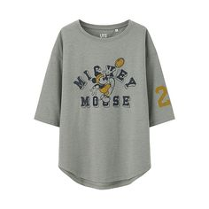 WOMEN DISNEY VARSITY 3/4 Sleeve Graphic T-Shirt - UNIQLO UK Online fashion store
