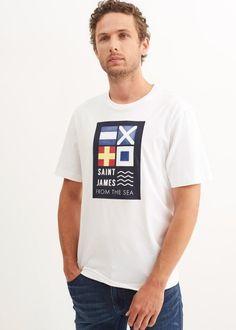 Saint James, T Shirt, Mens Tops, Fashion, Men Styles, Supreme T Shirt, Moda, Santiago, Tee Shirt
