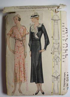McCall 7400 | 1933 Ladies' & Misses' Dress