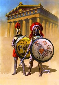 Courage, above all things, is the first quality of a warrior. #Greek #warrior #hoplites