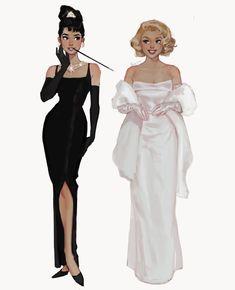 Desenho Audrey Hepburn, Art Drawings Sketches, Cute Drawings, Pretty Art, Cute Art, Japon Illustration, Poses References, Art Anime, Dibujos Cute