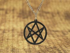 Men of Letters symbol (Supernatural) necklace   Aquarian Star necklace   scroll saw cutting, material: HIPS polystyrene   The new season of Supernatural just started, so I've decided to make something thematic.
