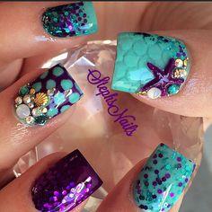 Stephanie Rochester @_stephsnails_ MermaidNails #mer...Instagram photo | Websta (Webstagram)