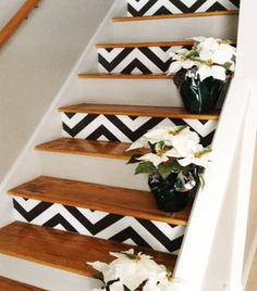 DIY Wallpapered Stair Risers Ideas To Give Stairs Some Flair