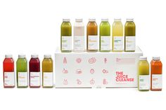 O packaging puro da Juice Cleanse