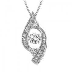 Ringjewels 14K Gold Plated 0.16 Ctw Round Cut Pink Sapphire Diamond Triple Heart Pendant with 18 Chain