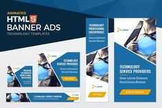 Technology Banner Ad Templates by KingBanners on Creative Market The post Technology Banner Ad Templates by KingBanners on Creative Market appeared first on Tecnology. Web Themes, Website Themes, Enterprise Logo, Google Banner, Best Banner Design, Facebook Cover Images, Web Banner, Banners, Responsive Web