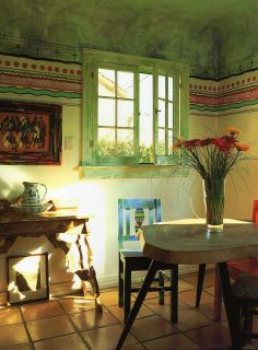 Cheery colors in this Mexican country style home - Blog - Saffron and Silk: Oh Mexico!