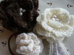 毛糸の巻きバラコサージュの作り方 編み物 編み物・手芸・ソーイング アトリエ