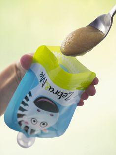 Zebra&Me - reusable food pouch - filling Pouch, Food, Sachets, Essen, Porch, Meals, Yemek, Belly Pouch, Eten
