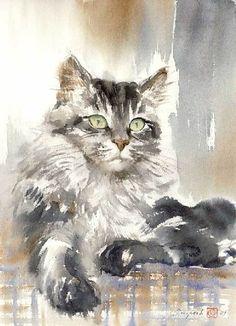 Обворожительные кошки на полотнах российских художников - Ярмарка Мастеров - ручная работа, handmade